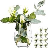 12 Stück Vase Vasen Set Blumenvase aus Glas Tischvase Glasvase Dekovase Deko Väschen