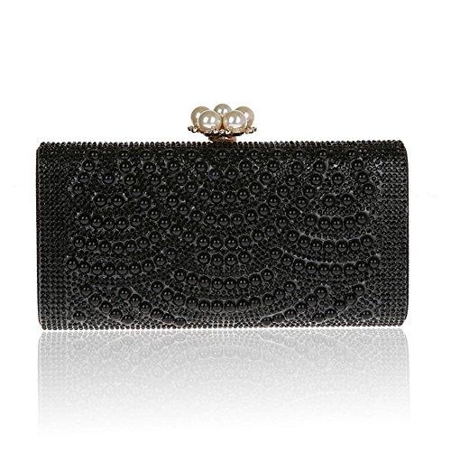 mini clutch bag/ confezione di moda strass/Fibbia fiore banchetto-B C