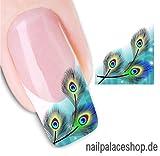 ACNails-Nagel Sticker Wasser Transfer Sticker Nailart Nagel Tattoos Nagelaufkleber Federn Motive -STZ013
