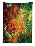 Abakuhaus Weltraum Wandteppich Farbvoller Nebula eine Big Bang Galaxie Weltraum Mit Sternen und Himmelskörpernaus Weiches Mikrofaser Stoff 110x150cm Klare Farben Wand Dekoration Mehrfarbig