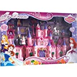 krivan Battery Operated My Dream Beauty Castle Play Set Music and Beautiful Lights, Barbie House, Doll House Toy (Multicolor)