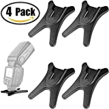 """Anwenk Camera Flash Stand Flash Speedlight Hot Shoe Mount Stand with 1/4"""" Metal Tripod Thread for Flash Speedlight Speedlite Canon Nikon Sigma Olympus Panasonic Pentax 4 Pack"""