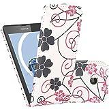 Weiß Rosa Blumen PU Leder Executive Vertikale Flip Wallet Case Cover Organizer Für Nokia Lumia 630