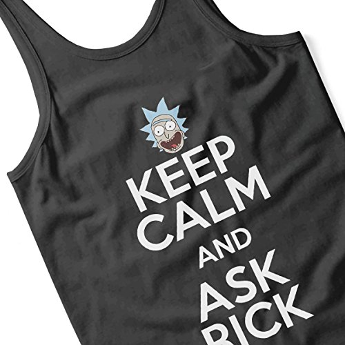 Rick and Morty Keep Calm and Ask Rick Women's Vest Black