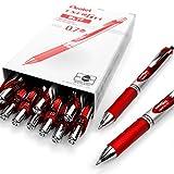Pentel Energel Xm BL77–Retractable Liquid-Gel Ink Pen–0.7mm–54% recycelt–Rot–Box von 12