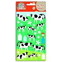 Téo et Zina Farmer and Cows Sticker Board, Felt, multi-coloured, 18.5 x 9.5 x 0.2 cm