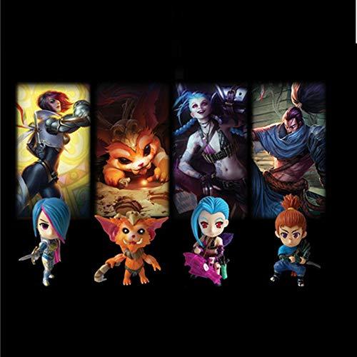 er League of Legends Modell 1 Generation 4 Q Edition Puppe Auto Dekoration Statue/Geschenk/Sammlung/Handwerk/Cartoon Charakter Dekoration Anime Anzug ()