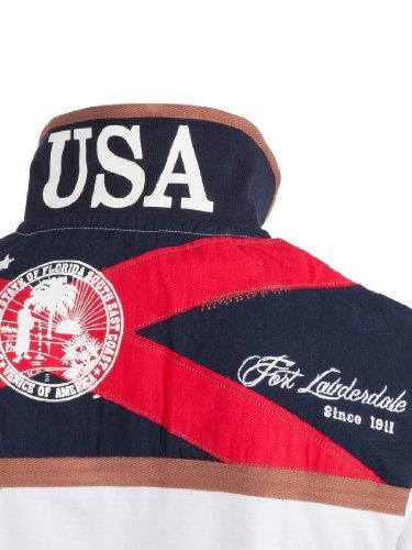 Ultrasport Fort Lauderdale Collection Polo per Uomo Boca Raton Bianco