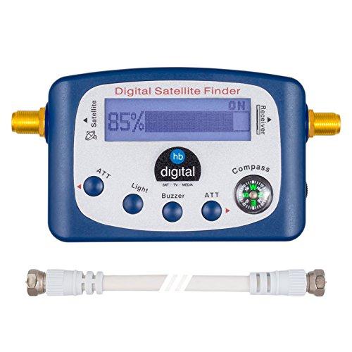 HB-DIGITAL SATFINDER mit LCD Anzeige Kompass und Ton + F-Verbindugskabel + Deutsche Anleitung (Lcd-digital-hdtv)