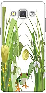 Snoogg Abstract Illustration With Lots Of Beautiful Flowers Designer Protecti...