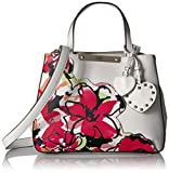 GUESS womens Britta Floral Small Society Satchel