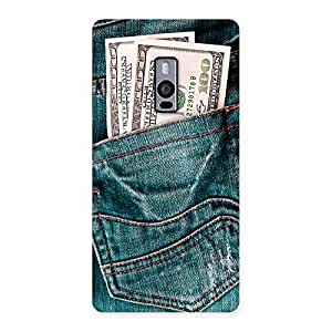 Premium Money Money Colorful Jeans Back Case Cover for OnePlus Two