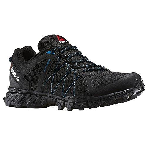 Reebok Trailgrip RS 5.0, Zapatillas de Senderismo Para Hombre, Negro (Black / Wild Blue / Coal), 42 EU