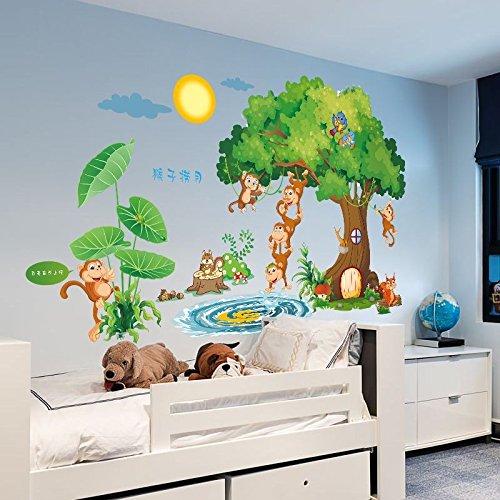 (Hongrun Die großen Zimmer sind in Einem Jungen Kind Wand Aufkleber abnehmbare Kindergarten Klasse mit Einem patriotischen Schule Karikatur Aufkleber 94 * 155 cm eingerichtet)