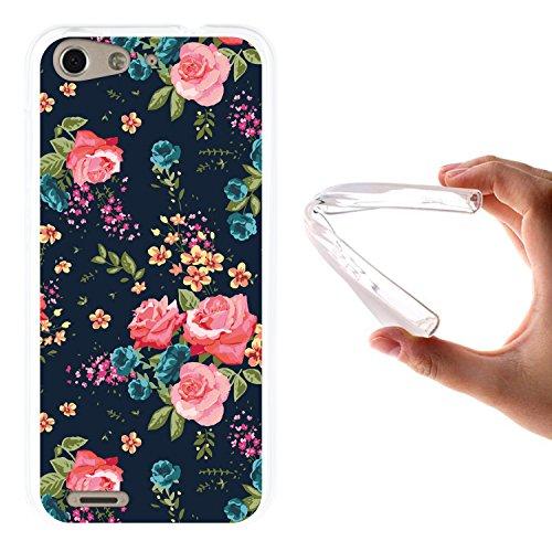 WoowCase ZTE Blade V6 Hülle, Handyhülle Silikon für [ ZTE Blade V6 ] Vintage Blumen Rosen Handytasche Handy Cover Case Schutzhülle Flexible TPU - Transparent