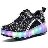 HUSK'SWARE 2 Roller Schuhe Trainers Kinder LED-Licht-Schuhe Unisex Roller Skates Schuhe Mit Rollen Automatischen Skate Schuhe Damen Herren Sneaker