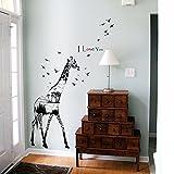 H&L Wandtattoo Wandsticker Wanddesign Wandaufkleber Giraffe Afrika NEU (N-3)