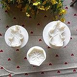 2ST Elk 1Pc Blume Fondant Kuchen Brot Cookie Dekoration Kolben Cutter Tool Schimmel