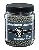 Billes de munition airsoft Oberland Arms - Lot de 2800 munitions - Billes grises de 0,12 grammes chacune