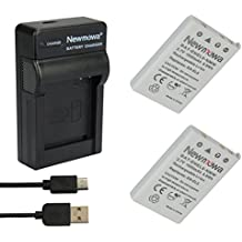 Newmowa EN-EL5 Batteria (confezione da 2) e Portable Micro USB Caricatore kit per Nikon Coolpix P530, P520, P510, P100, P500, P5100, P5000, P6000, P90, P80