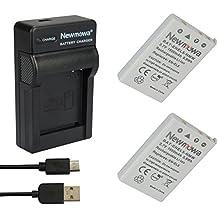 Newmowa EN-EL5 Batería (2-Pack) y Kit Cargador Micro USB portátil para Nikon Coolpix P530, P520, P510, P100, P500, P5100, P5000, P6000, P90, P80