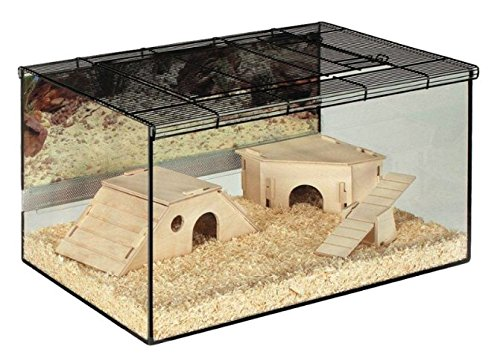 Skyline Small Terrarium Pet Cage - Perfect for Small Animals which like to Burrow - Includes Wooden Accessories and… 1