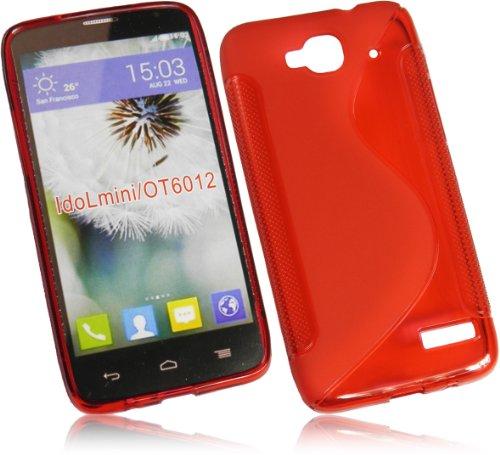 S Style Design Silikon Case Handy Flexible Tasche Schutz hülle Silicon Cover in Rot für Alcatel One Touch Idol Mini 6012D (Mini Idol One Alcatel Handy Touch)