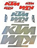 Aufkleber Sticker Set - Orange Silber - 10 Stück