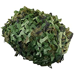 Filet de Camouflage, Ishua Camouflage Filet Net Camouflage Militaire Woodlands Feuille Pour Décoration Jardin Camouflage Chasse Jungle Camping plein air, 2m * 3m