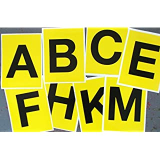Advanced Printing Black on Yellow Stickers for Dressage Arena Markers 150 x 200mm (ABCE FHKM)