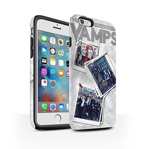Offiziell The Vamps Hülle / Matte Harten Stoßfest Case für Apple iPhone 6S+/Plus / Pack 5Pcs Muster / The Vamps Doodle Buch Kollektion Collage