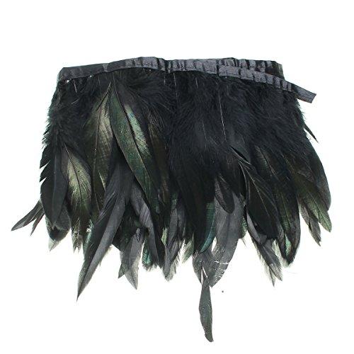 KING DO WAY 100 Stück Hahnenfedern Flügelfedern Hahn Federn Pad Feather Schmuckfeder DIY 8 Farbe (Kostüme Do)