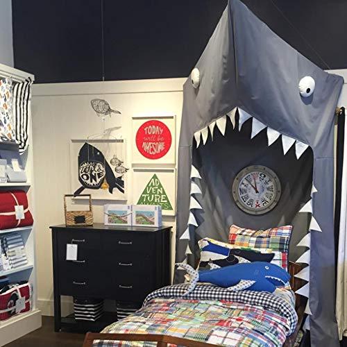 Mosquiteros, cama con dosel, decoración de la habitación de los niños, cuna Triangular Mosquiteros tienda de tiburón, decoración de la habitación