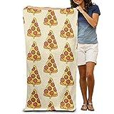 Mikrofaser Strand Handtuch Pizza bedruckt 76,2x 152,4cm weicher leicht saugfähig für Bad Schwimmbad Yoga Pilates Picknickdecke Handtücher