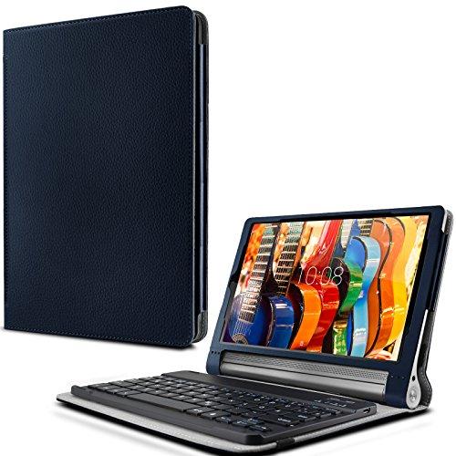Lenovo Yoga Tab 3 Plus/ Lenovo Yoga Tablet 3 10 Pro Keyboard Tastatur Hülle, Infiland Bluetooth Tastatur Ultradünn leicht Shell Ständer Schutzhülle mit magnetisch abnehmbar drahtloser Bluetooth Tastatur für Lenovo Yoga Tab 3 Plus 25,65cm (10,1 Zoll IPS) Convertible Media Tablet/Lenovo YOGA Tablet 3 10 Pro 25,6 cm (10,1 Zoll QHD IPS) Tablet(QWERTZ Tastatur) (Not für Lenovo Yoga Tab 3 10)(Dunkleblau)