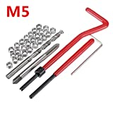 ChaRLes 30Pcs Beschädigter M5 Thread Repair Tool Kit Reparatur Recoil Insert Kit
