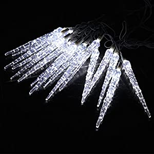 High Quality White 10 Metre LED Icicle Christmas Lights Indoor/Outdoor
