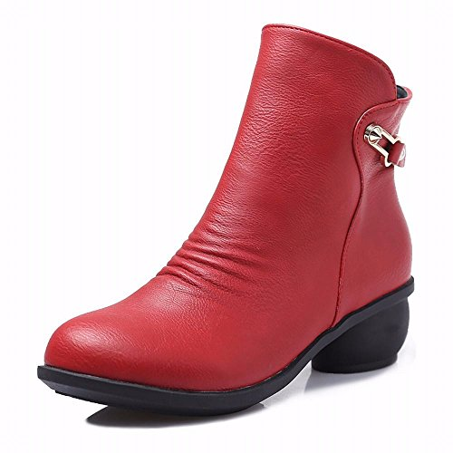 xiao123 Dance Shoes Women Short Boots Red Shoes Winter Square Fashion Simple Convenient Modern