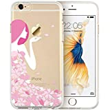 IPhone 6s Plus Case, ESR Mania Series Protective Case Bumper[Scratch-Resistant] [Perfect Fit] Clear Soft TPU Back Cover With Cute Print For 5.5 Inches IPhone 6s Plus (Pink Floral Girl),ESR,Mobile Case,Mania Series,6 Plus/6s Plus,Pink Floral Girl