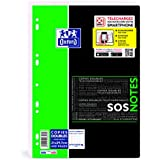 Oxford Etudiants SOS Notes Feuille double Petits carreaux 400 pages A4 Blanc