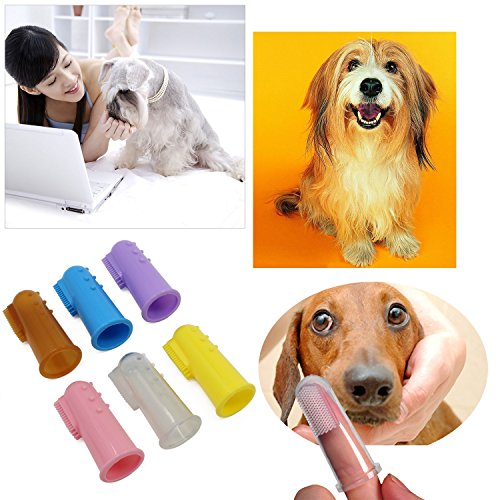 KEESIN-Pet-Finger-Toothbrush-Soft-Bristle-Massager-Tooth-Cleaner-Tool-Dog-Cat-Cleaning-Supplies-with-Clear-Cases-6PCS-Multicolor