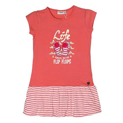 SALT AND PEPPER Mädchen Kleid Dress Sunny Day Stick Ballon, Orange (Papaya 325), 116 (Herstellergröße: 116/122) (Flip Flop Kleid)