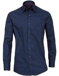 Casa Moda - Comfort Fit - Herren Freizeit Hemd in blau mit Muster (472859200)