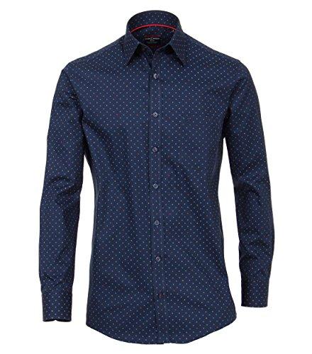 Casa Moda - Comfort Fit - Herren Freizeit Hemd in Blau oder Anthrazit mit Muster (472859200), Größe:XL, Farbe:Dunkelblau (100)