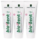 3er Pack Stevia Bio Dent Vital 75ml Zahncreme...