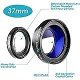 Neewer® 37mm 0,45x fotografía de alta definición cámara gran angular desmontable con macro lente de conversión para todas las cámaras y videocámaras con 37mm rosca de filtro de lente de tamaño