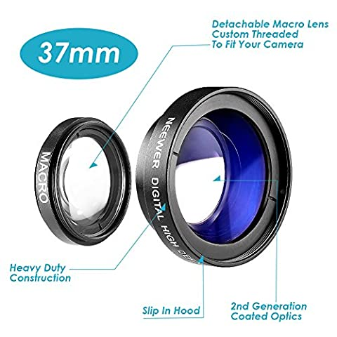 Neewer® 37MM 0.45X High Definition Photography Camera Wide Angle Lens