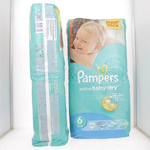 Preisvergleich Produktbild PAMPERS ACTIVE BABY-DRY 6 EXTRA LARGE (15+ Kg) von 56 bis 336 WINDELN ((1 x 56) Windeln)