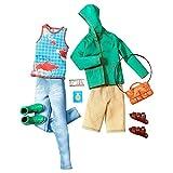 Barbie CHL25 Original Ken Kleider Set - mit Jeans, Short, Shirt, Jacke, Pantoffel, Sportschuhen und Umhängetasche (Mode, Kleidung)
