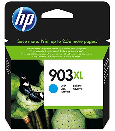 HP 903XL - Cartucho de tinta para impresoras (alto, compatible con OfficeJet Pro 6960 AiO/6970 AiO), cian